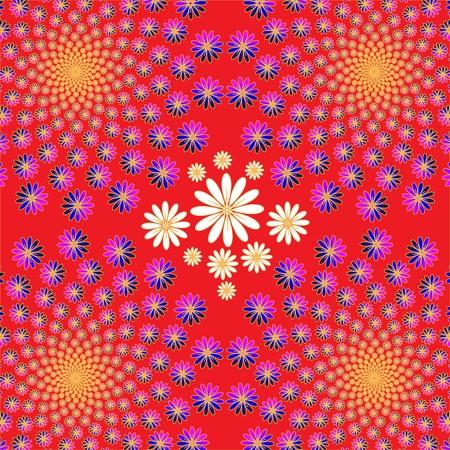 Floral Dance Illusion Иллюстрация