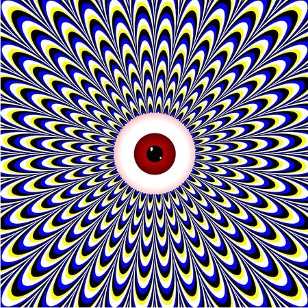 赤目の錯覚 写真素材