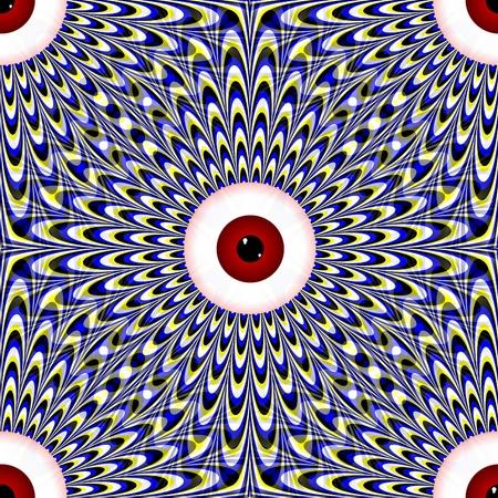 Seamless Red Eye Illusion Stock Photo - 13079076