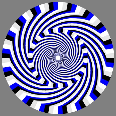 arte optico: Hypno-caballito de movimiento ilusión Vectores