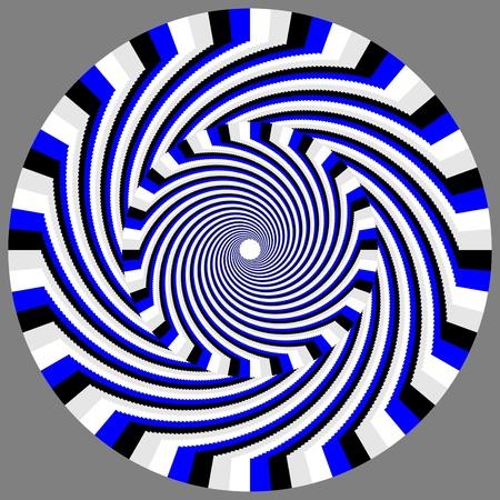 hypnotique: Motion illusion Hypno-wheelie Illustration
