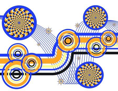 Retro Wheelie Wonder    motion illusion  Ilustrace