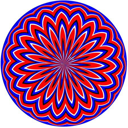 round: Magical Floral Sphere        motion illusion