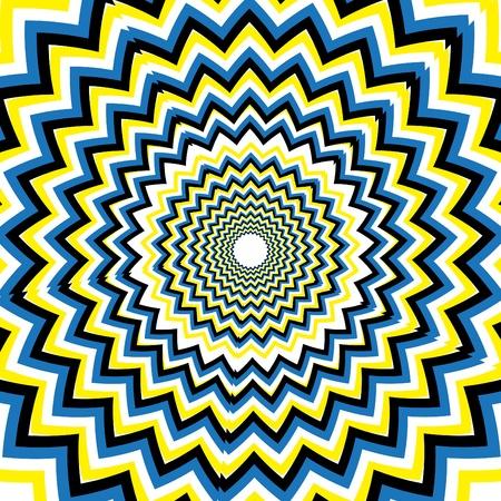 zigzag: Uncanny    motion illusion Illustration