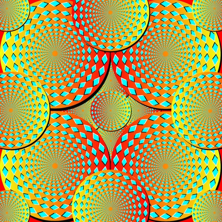 spinning: Spinning Disks Background       motion illusion