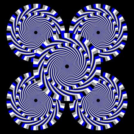 hypnotique: Hypnotic motion illusion Quintet Banque d'images