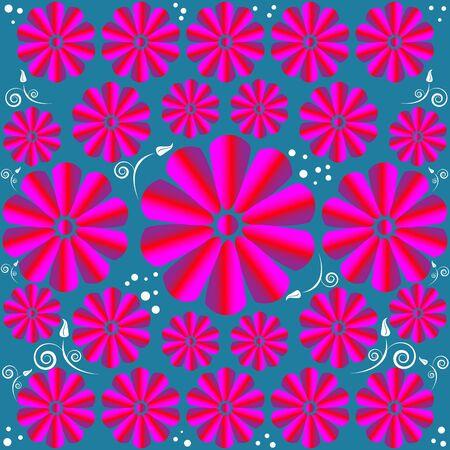 Twirl Garden    motion illusion