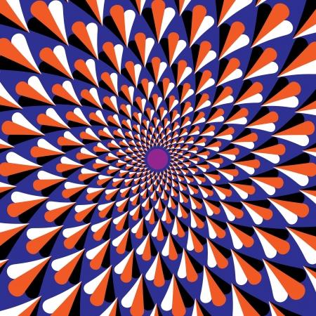 rotating: Purple Flicker Dot       motion illusion)