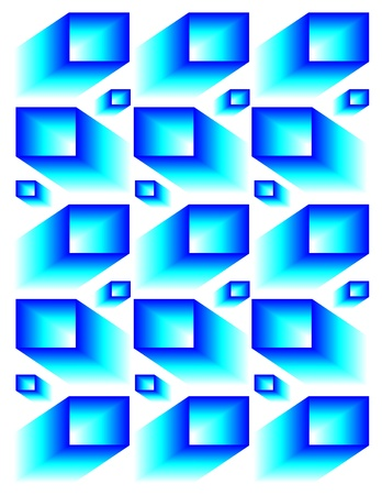 Floating Cubes Mystery    (motion illusion)