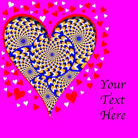 Hearts and Wheelies     motion  illusion Vector
