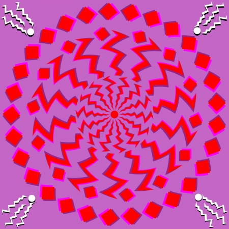 Red Rotations    motion illusion