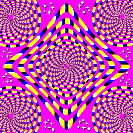 umschwung: Roll-Reversal Bewegungs-Illusion Illustration