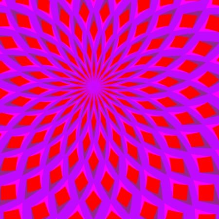 optical illusion: Red Blossom Blooming      motion illusion Illustration