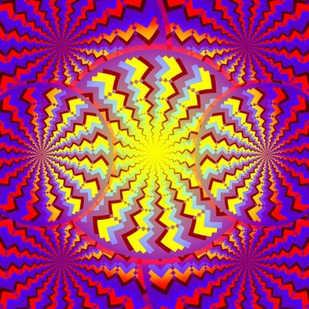 discs: Psycho Disco      motion illusion  Stock Photo