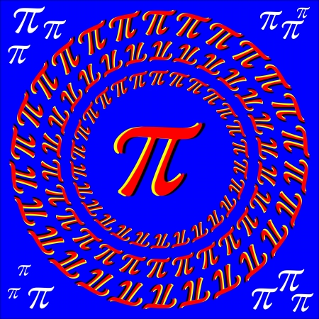 Pi Are Round     motion illusion Vector