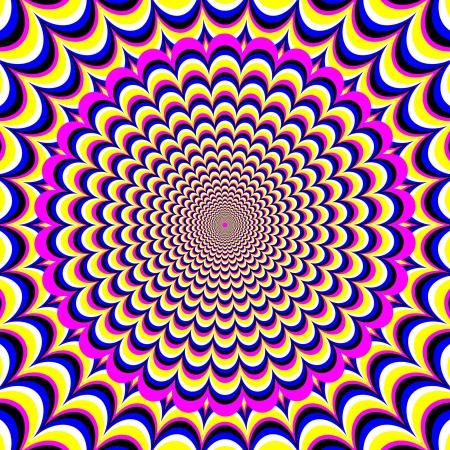 op: Flower Fantasy      motion illusion Illustration
