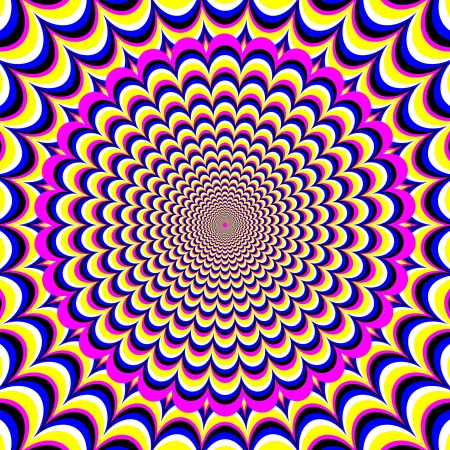 Flower Fantasy      motion illusion Çizim