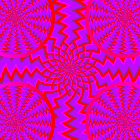 Tribal Spinners    motion illusion Illustration