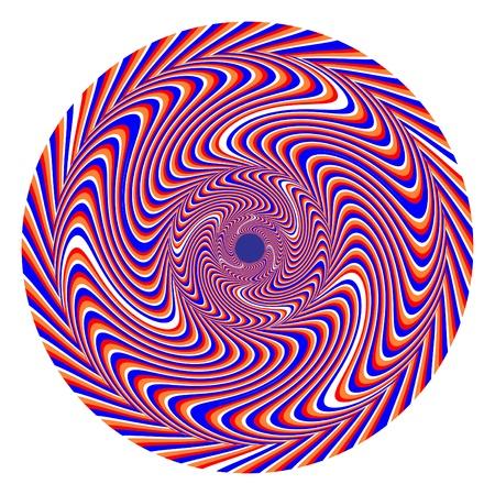 hypnotique: Swirlpool 2 illusion de mouvement du disque Illustration