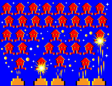 space invaders game: Invaders from Space    (motion illusion)