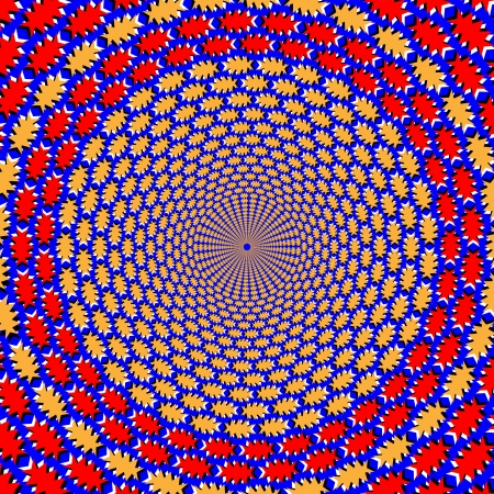 Spin Circles     motion illusion Vector