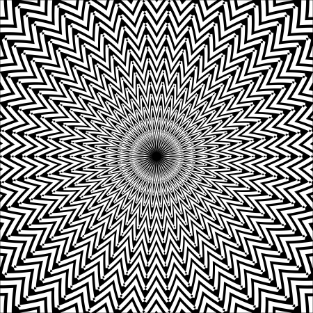 Black and White Radial Pattern