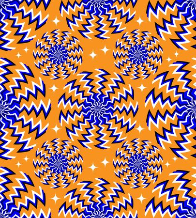 Seamless Zigzag Spinners    (motion illusion Иллюстрация