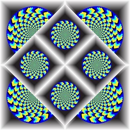 rotating: Zigzag Wheelies Boxed Set       motion illusion Illustration
