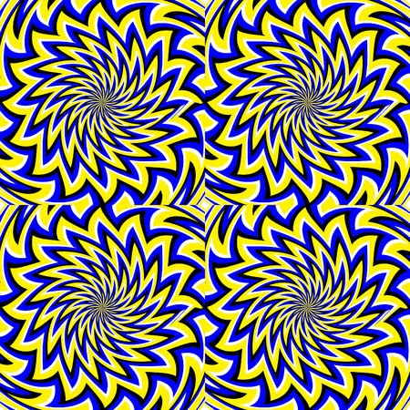 rotating: Four Blooming Flowers       motion illusion