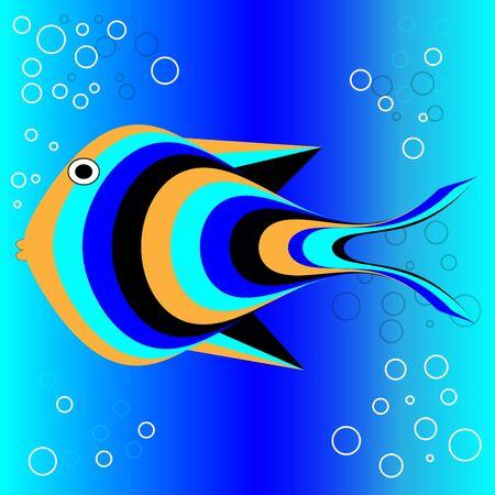 熱帯の魚  イラスト・ベクター素材