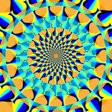 fate: Wheels of Fate    motion illusion Illustration