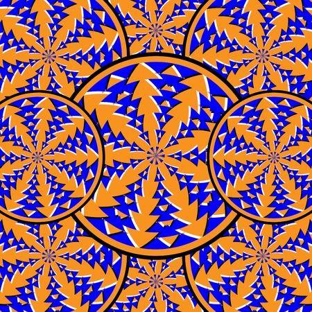 Spin Disk Deco    motion illusion Иллюстрация