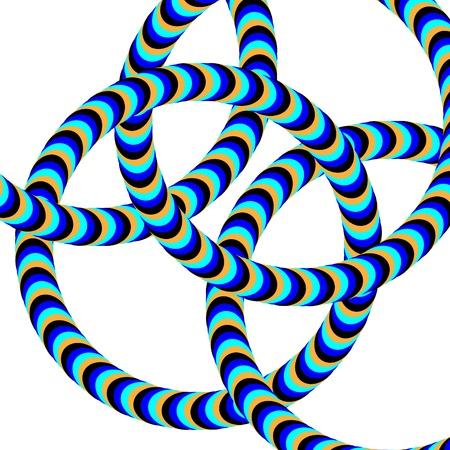 linked: Linked Wriggle Rings     motion illusion  Illustration
