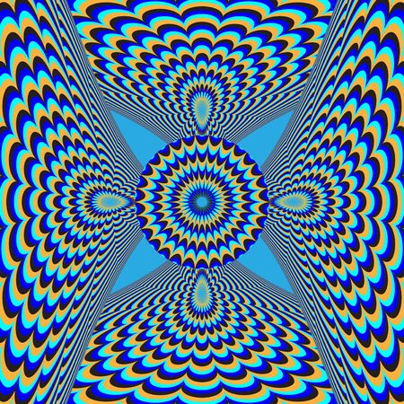 hypnotic: Dizzy Deco      motion illusion