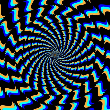 Perpetual Motion     motion illusion Vector