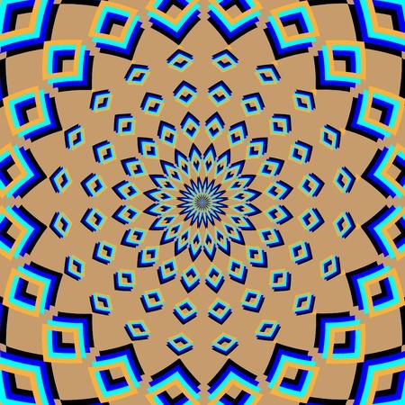 Retreating Flower     motion illusion Ilustrace