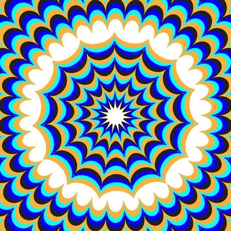 expanding: Blue Fantasy ilusi�n de movimiento Vectores