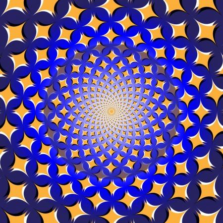 Spiral Star Wheel      motion illusion
