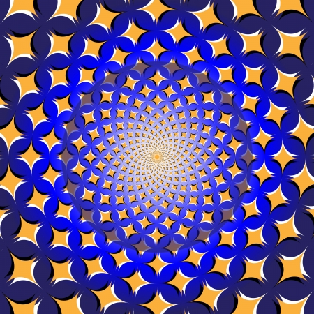 Spiral Star Wheel      motion illusion