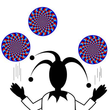 spinning wheel: Juggle Man     motion illusion
