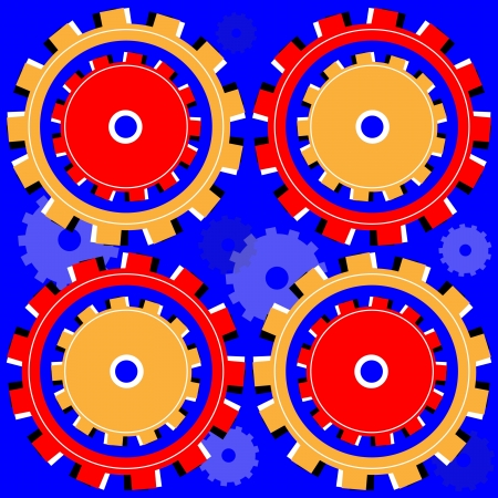 Shifty Gears    motion illusion Stock Vector - 16006846