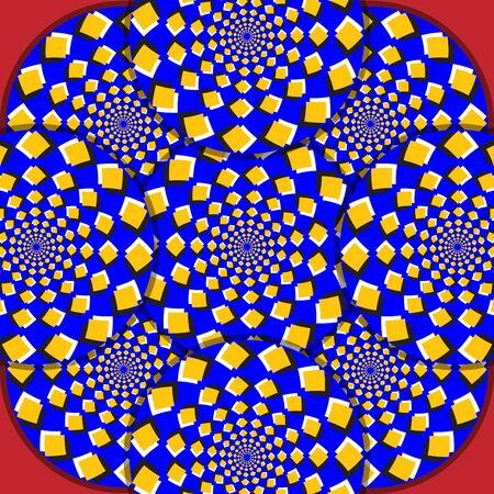 Magic Mosaic     motion illusion  Stock Vector - 16145803