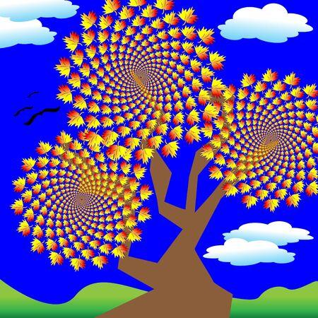 Autumn Leaves    motion illusion