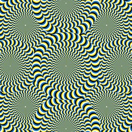 discs: Snake Wheelies       motion illusion  Illustration
