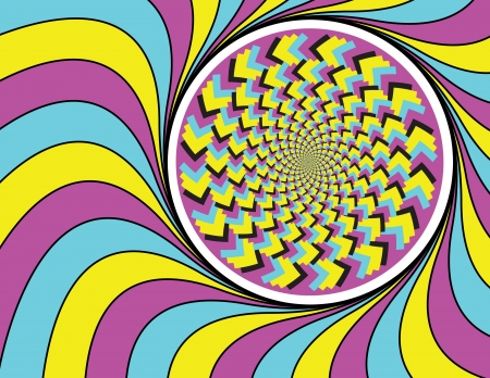Psychedelica      motion illusion Stock Vector - 16839887