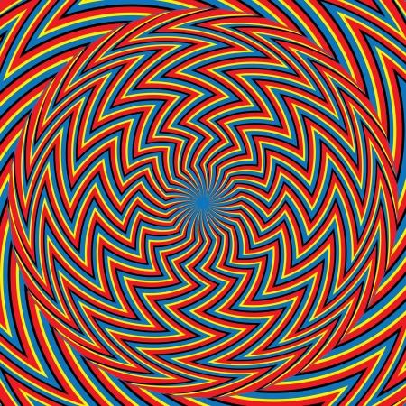 Zigzagger      motion illusion Stock Vector - 16929420