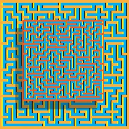 Levitating Maze     (motion illusion)
