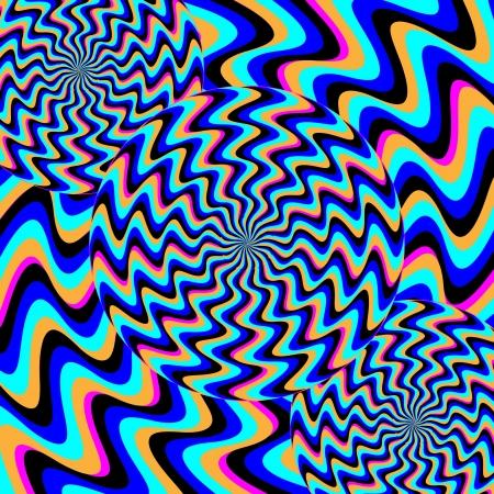 spinning wheel: Psychosis          illusory motion  Illustration