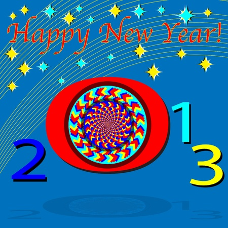 optical disk: Happy New Year 2013 Illustration
