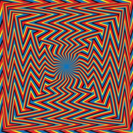 Zigzagger Squared     motion illusion Stock Photo - 17156098